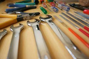 綺麗に並べた工具
